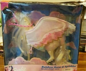 💥Mattel Barbie Rainbow Horse and Sprinkles w/ extra horse!  #23892 RARE