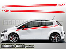 Fiat Punto side racing stripes 005 decals vinyl graphics stickers Grande GT