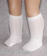"White Irish Dance Socks fit 15-18"" Doll - American Girl - Bitty Baby - Clothes"