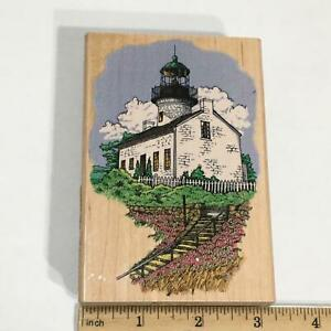 Stampendous Rubber Stamp Point Loma Light San Diego, CA Lighthouse Sea P035 VTG