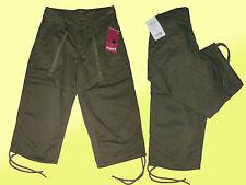 schicke sportliche Hose- Caprihose- Bermuda -Shorts-Gargoart Gr. 34 Khaki  NEU
