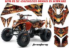 AMR RACING DEKOR GRAPHIC KIT ATV KTM 450 505 525 SX XC FIRESTORM B