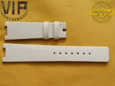 NEW OEM Authentic Omega strap 19 mm genuine Leather White Varnished