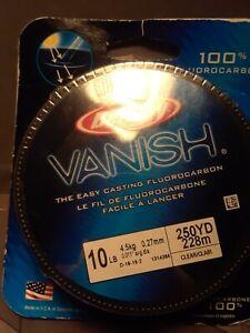 Berkley Vanish 10 lb 250 yrd Fluorocarbon Fishing Line BRAND NEW SEALED!
