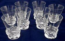 Série de 8 verres à liqueur en cristal signé Daum France Crystal liqueur glasses