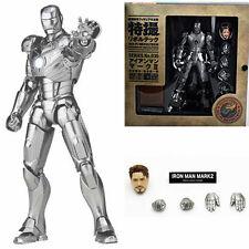 """IRON MAN SCI-FI REVOLTECH/ FIGURA N.035 IRON MAN II 15 CM-FIGURE MK 2 IN BOX 6"""""""