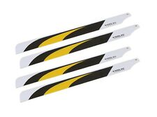 2X Pairs T-REX 450 RC Helicopter 325mm PRO3D Carbon Fiber Main Blades Propellers