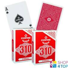 2 DECKS COPAG 310 SVENGALI POKER PLAYING CARDS PAPER STANDARD INDEX RED NEW