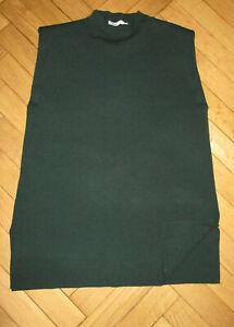 ZARA Dark Green Knit High Neck Sleeveless Long Tabard L