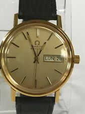 VINTAGE GOLD OMEGA SEAMASTER AUTOMATIC DAY & DATE DIAL DRESS MEN'S WATCH
