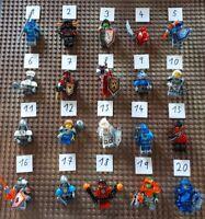 5 Lego Nexo Knights Ritter Figuren zum Aussuchen mit Zubehör Roboter Droid X18