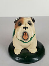 Byers' Choice Christmas Carolers Brown and White Dog Green Scarf 1989