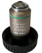 Nikon Cfi Plan Apo 20x075 Dic N2 Microscope Objective Lens Wd 1mm