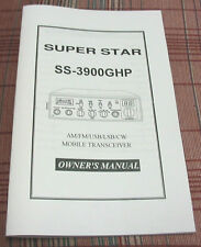 Superstar 3900Ghp 10 Meter Radio Owners Manual