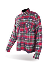 Cruiser Flannel Checks Green Motorcycle armor Shirt with Kevlar® Fiber