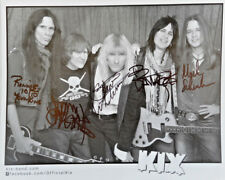 Kix  Hand Signed Autographed 8 x 10 Entire Band Signed Hard Rock 80's Metal