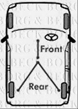 BKB3067 BORG & BECK BRAKE CABLE - FRONT fits Ford Kuga 08- NEW O.E SPEC!