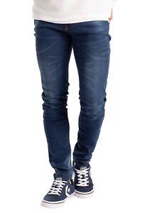 Herren Slim Fit Jeanshose Stretch Designer Hose Super Flex Denim Pants
