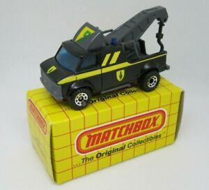 Matchbox Superfast MB21 Breakdown Van - Black w/Chrome Hubs - Mint/Boxed