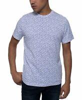 Kenneth Cole Mens T-Shirt White Blue Size Medium M Graphic Tee Star $39 #197