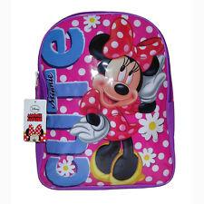 "Disney MINNIE MOUSE CUTE Kids School 15"" Pink Polka Dots Backpack Book Bag NEW"