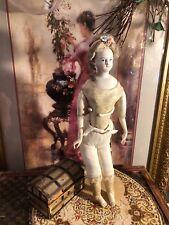 "~ Beautiful!!!Antique German 14"" Painted Eye Fashion Lady Doll ~"