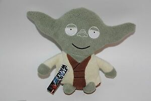"""STAR WARS comic images PLUSH STUFFED YODA open arms NEW WITH TAGS BEAN BAG 7"""""""