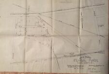 1909 FLORAL PARK, QUEENS, NASSAU, NY HAND DRAWN INK ON LINEN MAP BLUEPRINT 24X36