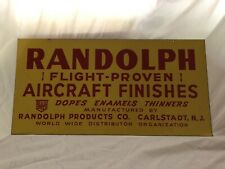 Vintage Randolph Aircraft Finishes Metal Sign