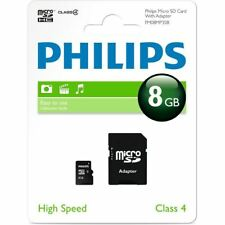 Philips 8GB Class 4 Micro SDHC Memory Card with SD HC Adapter