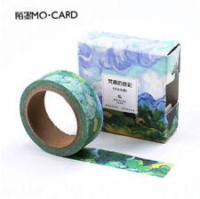 Washi Tape %7c Masking Tape %7c Deko Klebeband, Van Gogh Gemälde, 8 Motive, 15mmx7m