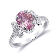 Natural Padparadscha Sapphire 2.11 carats set in Platinum Ring