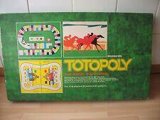 Totopoly GAME VINTAGE 1972 corse dei cavalli Gioco da tavolo Waddingtons 100% completo in buonissima condizione