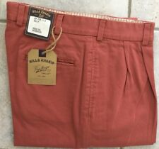 BRAND NEW - Bills Khakis Red M2 Pleated Front WRVT - Size 37 - MSRP $165
