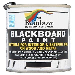 RAINBOW CHALK CHALKBOARD BLACKBOARD PAINT 1 LITRE, 2.5 LITRE  25 LITRE BLACK