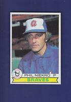 Phil Niekro HOF 1979 TOPPS Baseball #595 (NM+) Atlanta Braves
