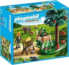 PLAYMOBIL 6815 Paese FORESTER'S WOODLAND Glade Playset