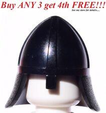 ☀️NEW Lego Boy/Girl Minifig Hat Black Castle Knight Nose Gaurd Helmet