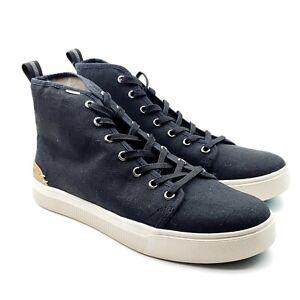 Toms Trvl Lite Eco X40 Mens True Black Canvas High Top Sneakers 9.5 UK 8.5 42.5