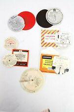 SEVEN vintage exposure meters/calculators: Johnson, AGFA, focus,  FOTOGRAM