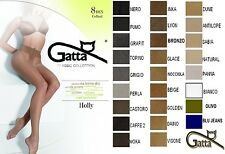 GATTA HOLLY TIGHTS 8 DEN DENIER T-BAND SYNTETIC SILK WITHOUT PRONOUNCED TOES LOT