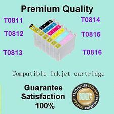 6x Generic ink cartridge 81/81N 82N for Stylus R290 R390 RX590 RX610 T50