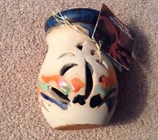 MARBLESTONE POTTERY INCENSE BURNER~HANDMADE IN JAMAICA~NEW WITH TAGS