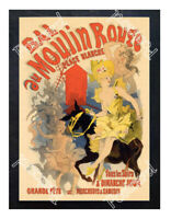 Historic Moulin Rouge Nightclub 1900s Advertising Postcard 1