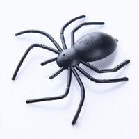 10 x Black Fake Spider Party Horrible Mischief Joke Prop Funny Toy