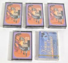 5 Readers Digest Music Cassette Tapes All Star Piano Moods & Voices of Romance