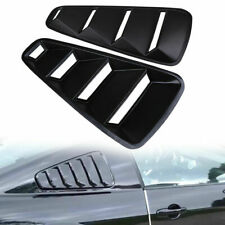 Black For 2005-2014 Ford Mustang Black Vent 1/4 Quarter Side Window Louver Cover