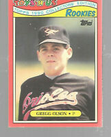 1990 Toys R Us Gregg Olson Rookie #21 Baltimore Orioles Baseball Cards