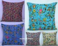 Cushion Cover: India Floral 100% Cotton Embroidered Kantha Pillow Cover Decor