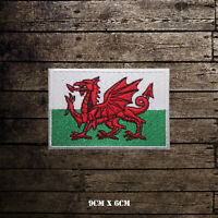 Wales National Flag  Embroidered Iron On Sew On Patch Badge For Clothes etc